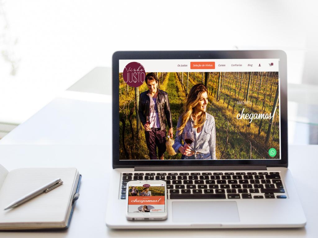 Website Vinho Justo